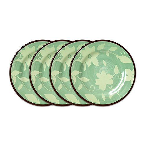 Pfaltzgraff Patio Garden Melamine Salad Plate, 9-Inch, Set of 4