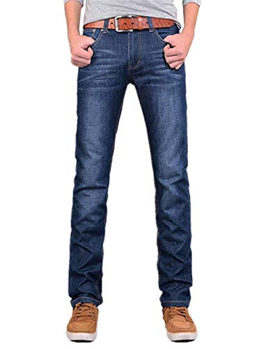 Retro Fit Casual Strappati Dritti Uomo Hrenjeans Di Giovane Chino a3 Blu Regular Denim Jeans Blau Bluejeans Stretch Pantaloni Base qSvp8np01