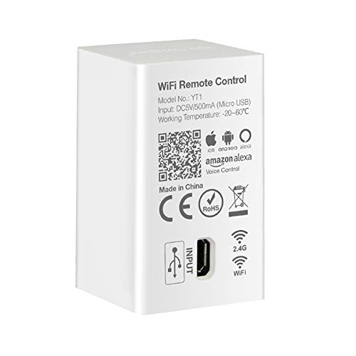LGIDTECH Mi.Light YT1 WiFi Hub For Amazon Alexa Voice Control,Work With Milight 2.4GHz Products Via Mi-Light Cloud Smart Home Skills,Except Some Single Zone Strip Controllers.Not Support Group Control