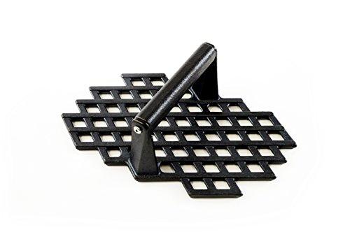 - Charcoal Companion CC5159 Cast Iron Grill Marks Press