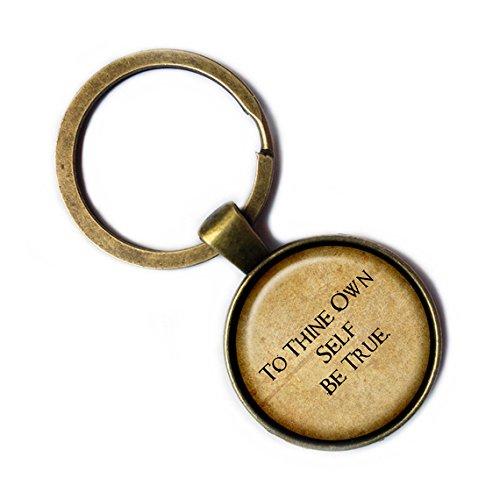 "William Shakespeare""To Thine Own Self Be True."" Bronze Keychain Keyring"