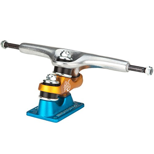 Gullwing Sidewinder II Longboard Trucks - Blue/Orange - 10.0