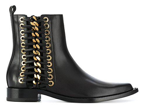 Alexander McQueen Women's 493542Whr531088 Black Leather Ankle Boots