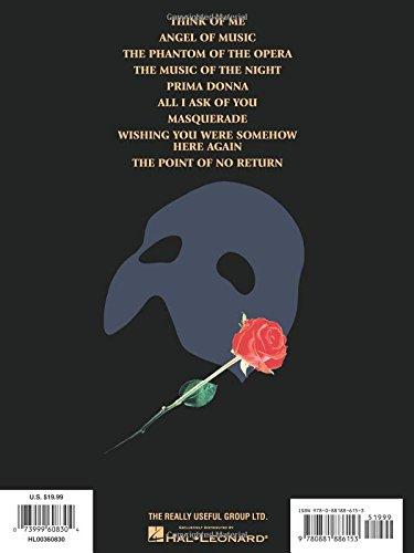 Phantom Of The Opera Souvenir Edition Pianovocal Selections