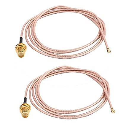 DealMux 2pcs RG178 solda fio SMA IPEX Vire interior da agulha Antena WiFi Pigtail Cable 1m