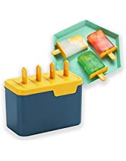 Kyraton Ice Pop Mould, Fresh Fruitsicle Frozen Pop Tray, Milticolored Set of 4 Popsicle Makers With Sticks. BPA Free.