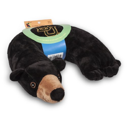 Critter Piller NCAA Kid's Travel Neck Pillow, Baylor Bears Black Bear