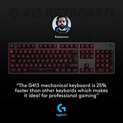 Logitech G - G413 - Teclado Mecánico con Iluminación para Gaming - Negro 8