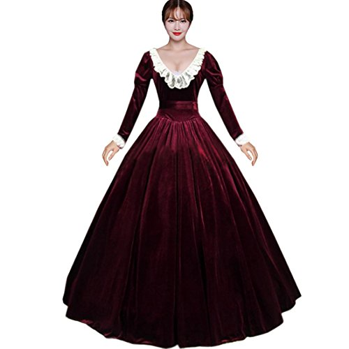 Victorian Red Dress - 5