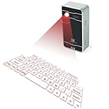 Mini Wireless Laser Projection Bluetooth Virtual Keyboard & Mouse for Iphone, Ipad, Smartphone and Tablets