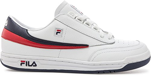 Fila Men's Original Tennis Athletic Sneakers White Synthetic Leather 14 M