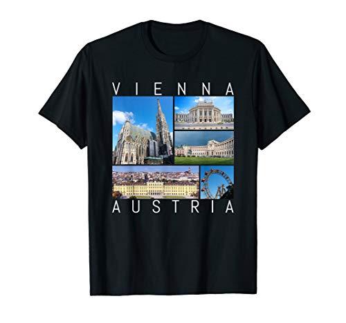 Vienna Austria T-Shirt Famous Sights Schoenbrunn Souvenir