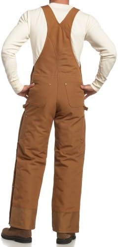 Carhartt Men's Quilt Lined Zip To Thigh Bib Overalls R41