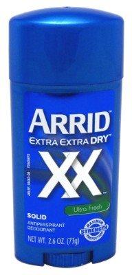 Arrid XX Ultra Fresh, Extra Extra Dry, Solid Antiperspirant Deodorant, 2.6 Oz. (Pack of 3) (Extra Dry Anti Perspirant)
