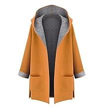 Gillberry Women Warm Hooded Coat Jacket Overcoat Long Trench Cardigan Outwear