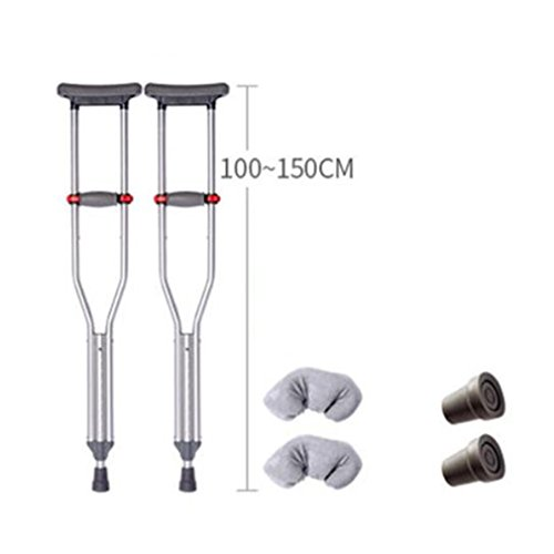 moxin Underarm Adjustable Height Adult Red Dot Axilla Crutches, A, A ()