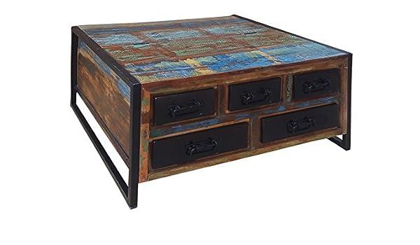 Main Muebles Mesa baúl 90 x 90 cm Oxford Madera reutilizada ...