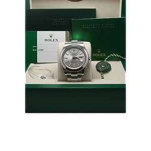 Rolex Datejust II 41 Silver Dial Steel Mens Watch 116300