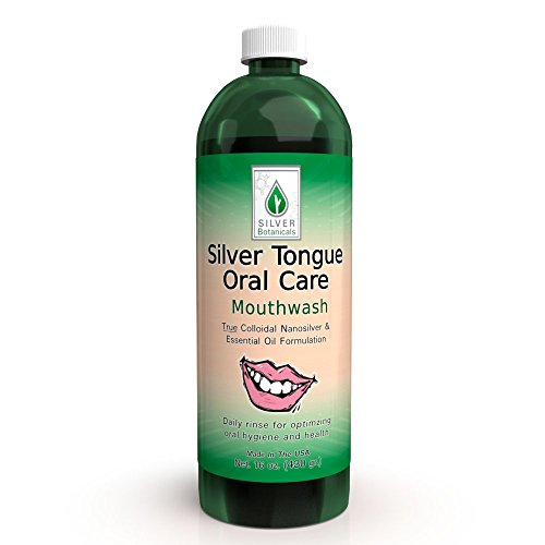 Silver Tongue Oral Care - All Natural Colloidal Silver Mouthwash, 16 oz. from Silver Botanicals