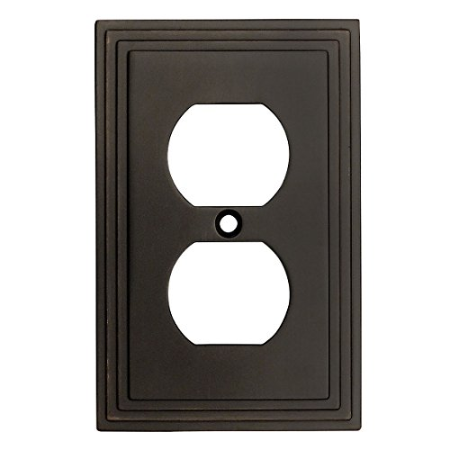 Cosmas 25026-ORB Oil Rubbed Bronze Single Duplex Electrical Outlet Wall Plate / Cover