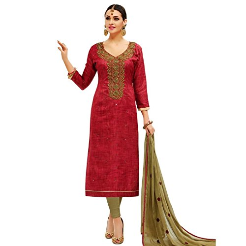 Readymade-Silk-Embroidered-Salwar-Kameez-Suit-Indian-Dress-Ethnic