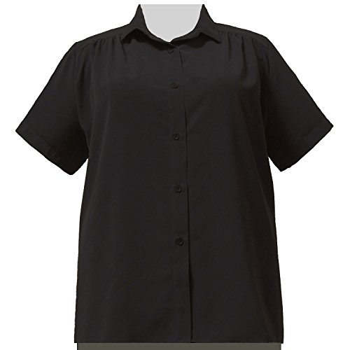 A Personal Touch Women's Plus Size Black Button-Down Tunic - 3X