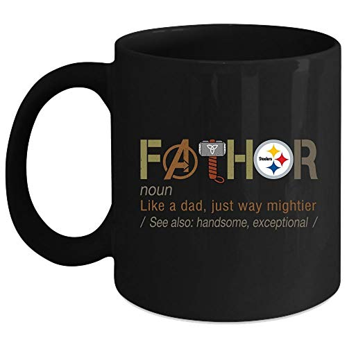 Fathor Pittsburgh Steelers Cup, Father's Day Mug (Coffee Mug 11 Oz - - Steelers Oz 11 Pittsburgh Mug