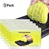 Cleaning Gel Universal Dust Cleaner for Keyboard Cleaning Car Detailing Office Electronics Cleaning Kits Dust Remove Gel Cleaner from ColorCoral 5 Pack