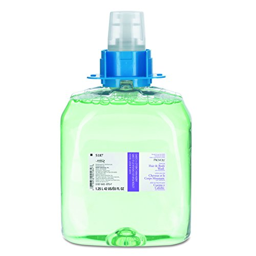 PROVON FMX-12 Foaming Hair & Body Wash with Moisturizers, Cucumber Melon Fragrance, 1250 mL Wash Refill for PROVON FMX-12 Push-Style Dispenser (Case of 3) - 5187-03