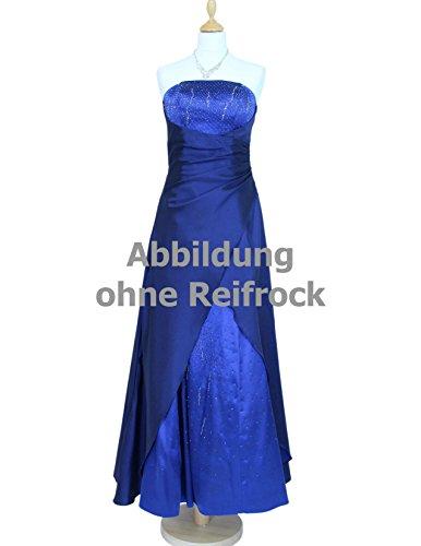Perlen 34 Gr Abendkleid abnehmbaren Trägern Satin blau 42 2007 und mit und Langes Stola C7xXwBHqC