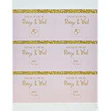 Andaz Press Blush Pink Gold Glitter Print Wedding Collection, Bridal Shower Game Scratch Cards, 30-Pack