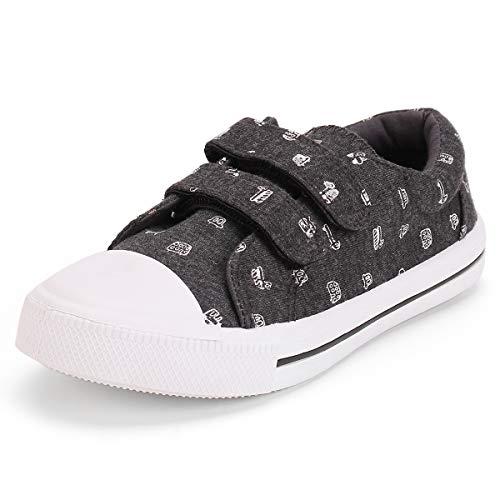 KomForme Toddler Sneakers for Boys and Girls Black, 7 M US Toddler -