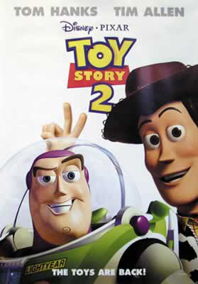 Toy Story 2 Poster - Toy Story 2 - Disney / Pixar Movie Poster (Regular Style) (Buzz Lightyear & Woody) (Size: 27