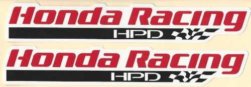 Honda HPD Racing Decals Stickers 9 Inches Long Size Set of 2 (Honda Decal Set)