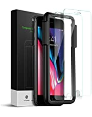 يوجرين - حماية شاشة متوافق مع ايفون 8P/7P/6SP/6P قياس من 5.5 انش شاشة حماية زجاجية 3D تاتش - 2 حزمة