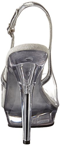 Pleaser Lip-150 - Sandalias con correa de tobillo Mujer Transparente