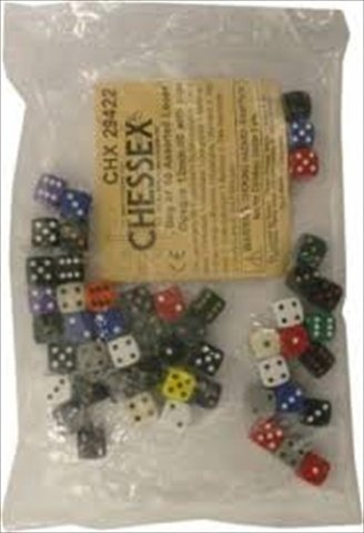 大勧め Chessex Opaque Dice: Assorted CHX29422 Bag Small of Small D6 50-Count) (12mm, 50-Count) CHX29422 B00806P9LG, DIVING-HID:f801daa0 --- hohpartnership-com.access.secure-ssl-servers.biz