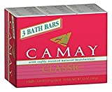 Camay Classic Bath Bars Per Package With Softly Scented Natural Moisturizer (72-Pack, 4.0oz / 113g each Bar, Camay Romantic Red with Natural Moisturizer)