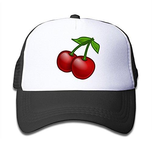babys-cherry-clipart-adjustable-snapback-mesh-hats-black-one-size