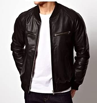 mens faux leather biker jacket uk