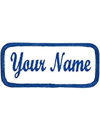 Name patch Uniform or work shirt personalized Identification tape Embroidered Sew On or Hook Fastener