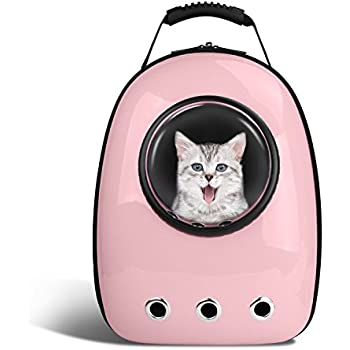 Anzone Pet Portable Carrier Space Capsule Backpack, Pet Bubble Traveler Knapsack Multiple Air Vents Waterproof Lightweight Handbag for Cats Small Dogs ...