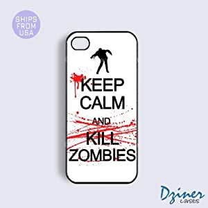 iPhone 5 5s Case - White Keep Calm Kill Zoombies iPhone Cover