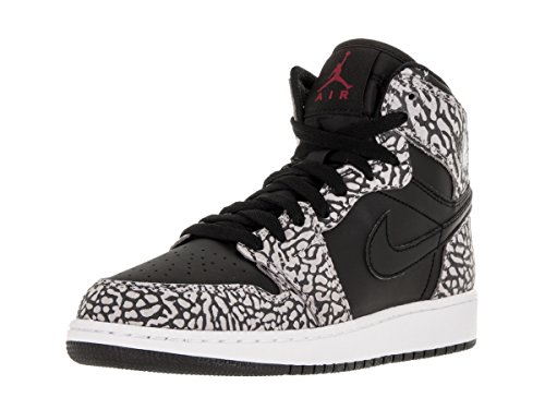 Jordan Nike Kids Air 1 Retro Hi Prem BG Black/Gym Red/Cmnt Gry/Anthracite Basketball Shoe 6.5 Kids US