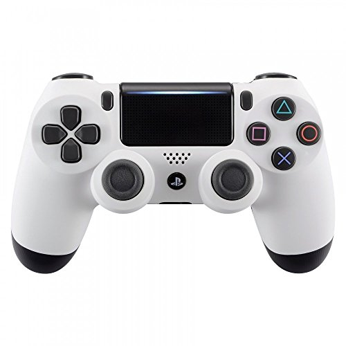 eXtremeRate Soft Touch Grip White Front Housing Shell Faceplate for Playstation 4 PS4 Slim PS4 Pro Controller (JDM-040) by eXtremeRate