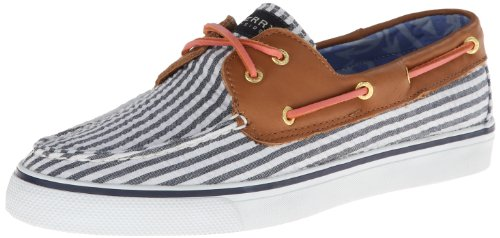Sperry Top-sider Womens Bahama Seersucker Slip-on Loafer Flottan