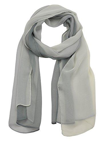 NYFASHION101 Women's Multicolor Chiffon Silk Blend Scarf Shawl Wrap, -