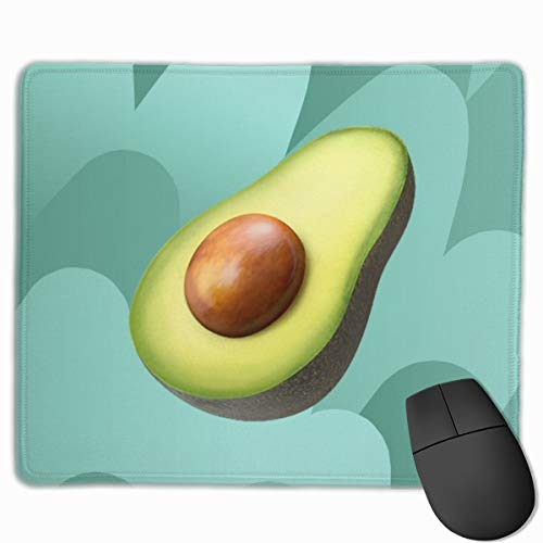 811 Avocado - Avocado Fruit Decor Pattern Non-Slip Personality Designs Gaming Mouse Pad Black Cloth Rectangle Mousepad Art Natural Rubber Mouse Mat with Stitched Edges 9.811.8 Inch