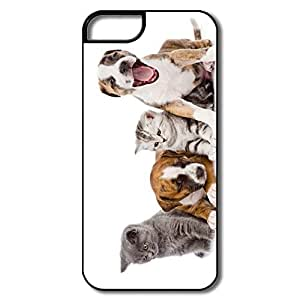 Custom Best Hard Plastic Shock Absorption Cats Dogs Iphone 5s Cases by Maris's Diary