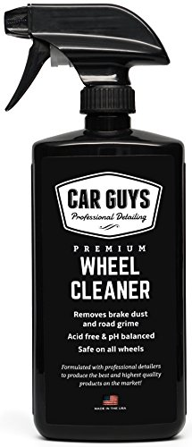 Wheel and Tire Cleaner  - Safe for all Wheels and Rims - Works on Alloy Chrome Aluminum Clear-Coated Painted Polished and Plasti-Dipped Rim - Wheel Cleaner by CarGuys (Best Alloy Wheel Cleaner)